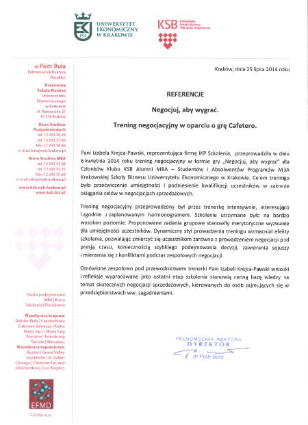 Referencje KSB UE Cafetero