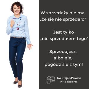 Iza Krejca-Pawski Cytaty z książki Sprzedaż. Tylko sprawdzone techniki. (2)