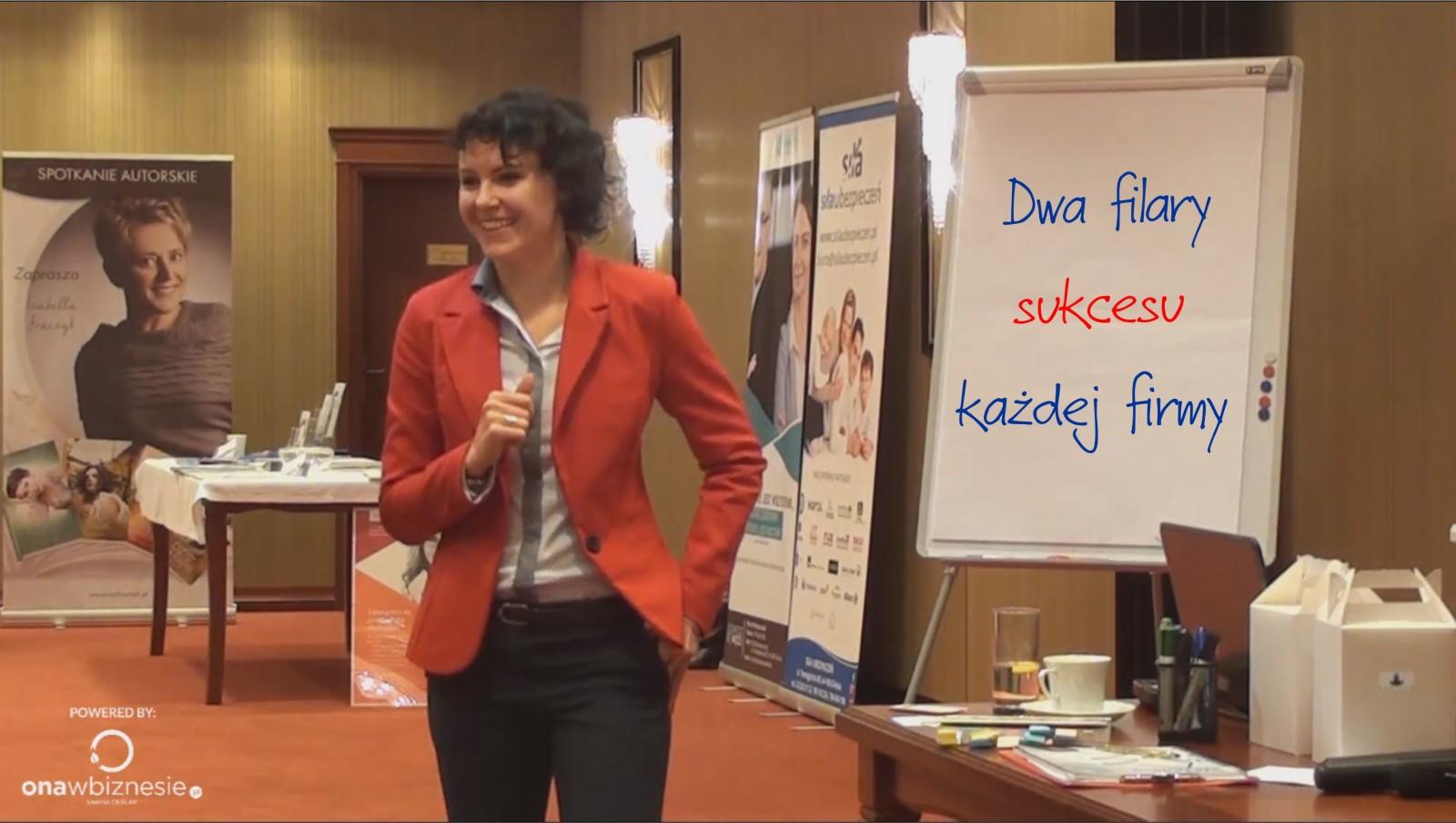 Iza Krejca-Pawski Wystąpienie Dwa filary sukcesu w biznesie i sprzedaży