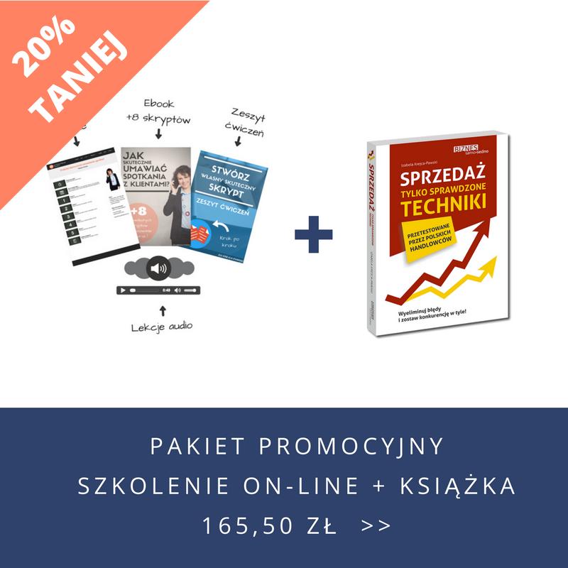 Pakiet promocyjny szkolenie on-line + książka Iza Krejca-Pawski