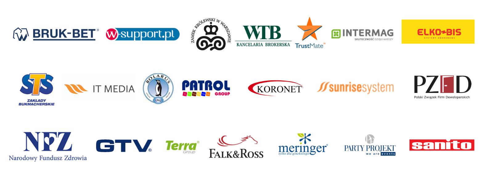 firmy dla których IKP Szkolenia powadziły szkolenia ze sprzedaży, umawiania spotkań, obsługi klienta i zarządzania czasem