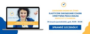Elastyczne Zarządzanie Czasem Szkolenie online warsztaty z planerami