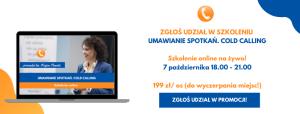 Szkolenie online Umawianie Spotkań Cold Calling Iza Krejca-Pawski