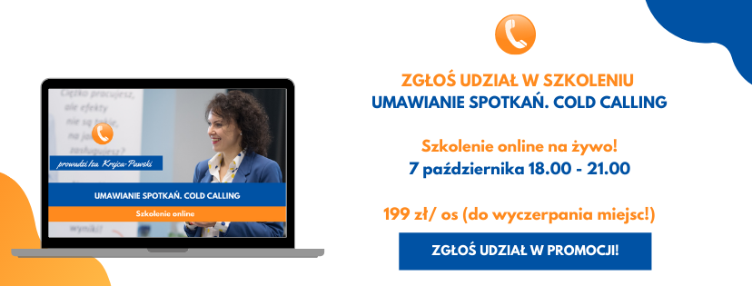 Szkolenia online z Izą Krejca-Pawski Umawianie Spotkań Cold Calling