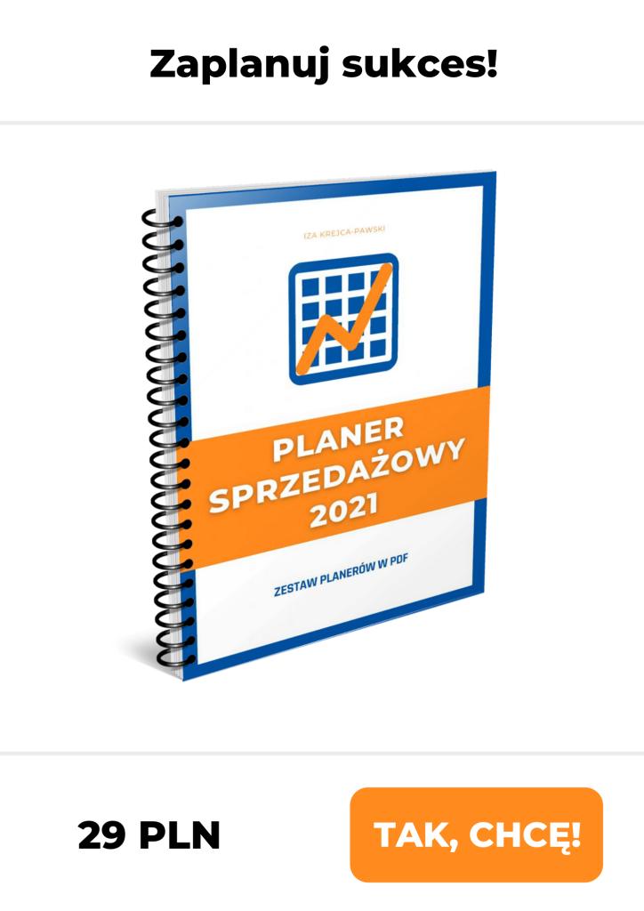Planer Sprzedażowy 2021 Iza Krejca-Pawski