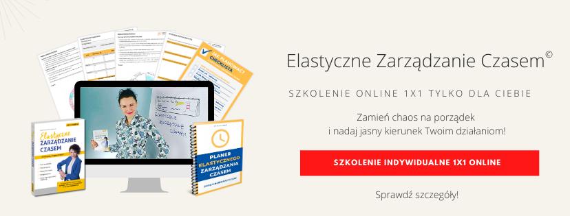 Szkolenia online Elastyczne Zarządzanie Czasem z Izą Krejca-Pawski
