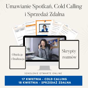 Szkolenie online Skuteczna Sprzedaż Zdalna Umawianie Spotkań Cold Calling