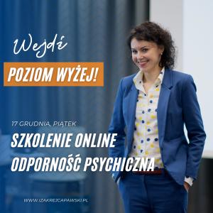 Szkolenie Stres i Odporność Psychiczna z Izą Krejca-Pawski